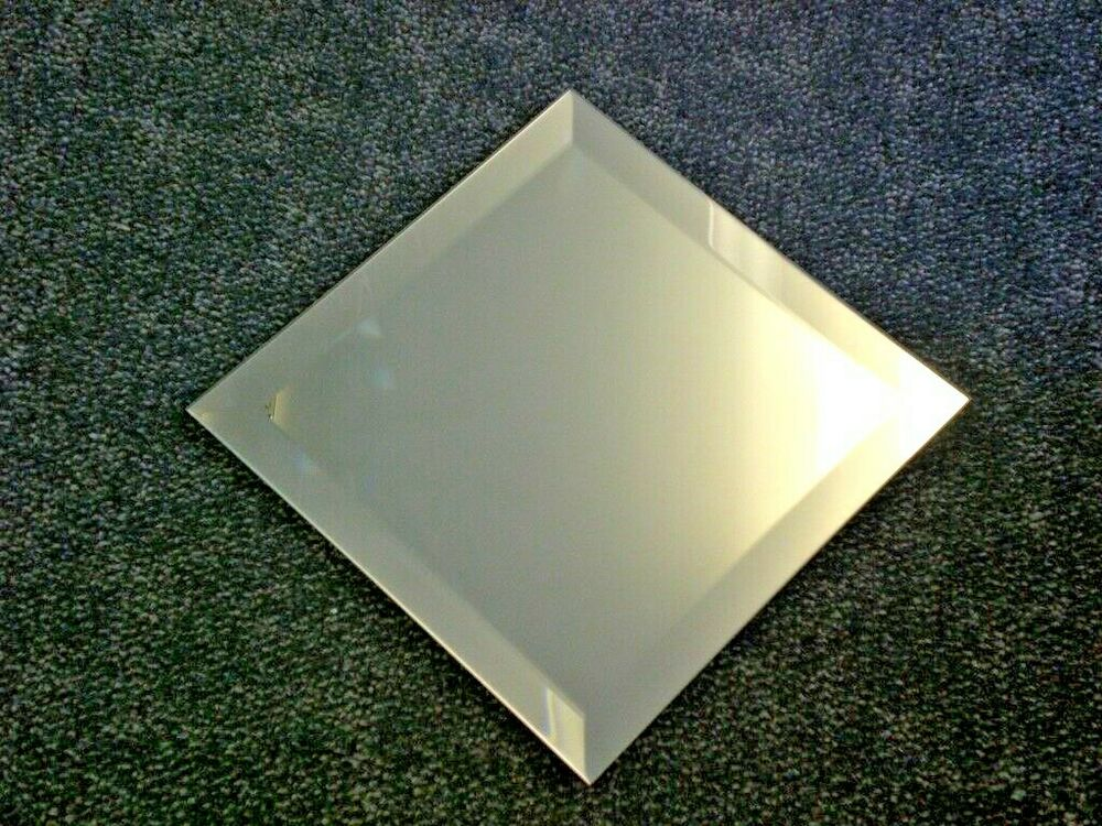 Bevelled Edge Square Mirror Self Adhesive Many Various