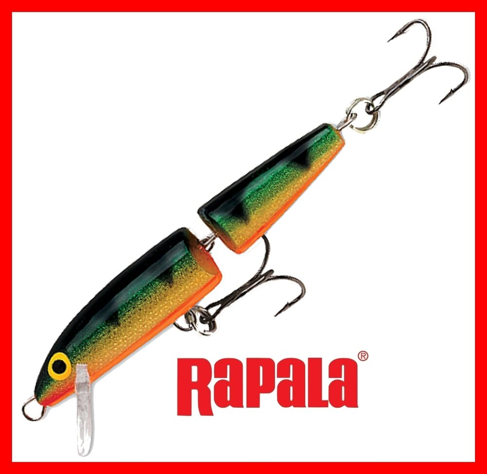 New rapala jointed floating perch j09 p fishing lure ebay for Perch fishing lures