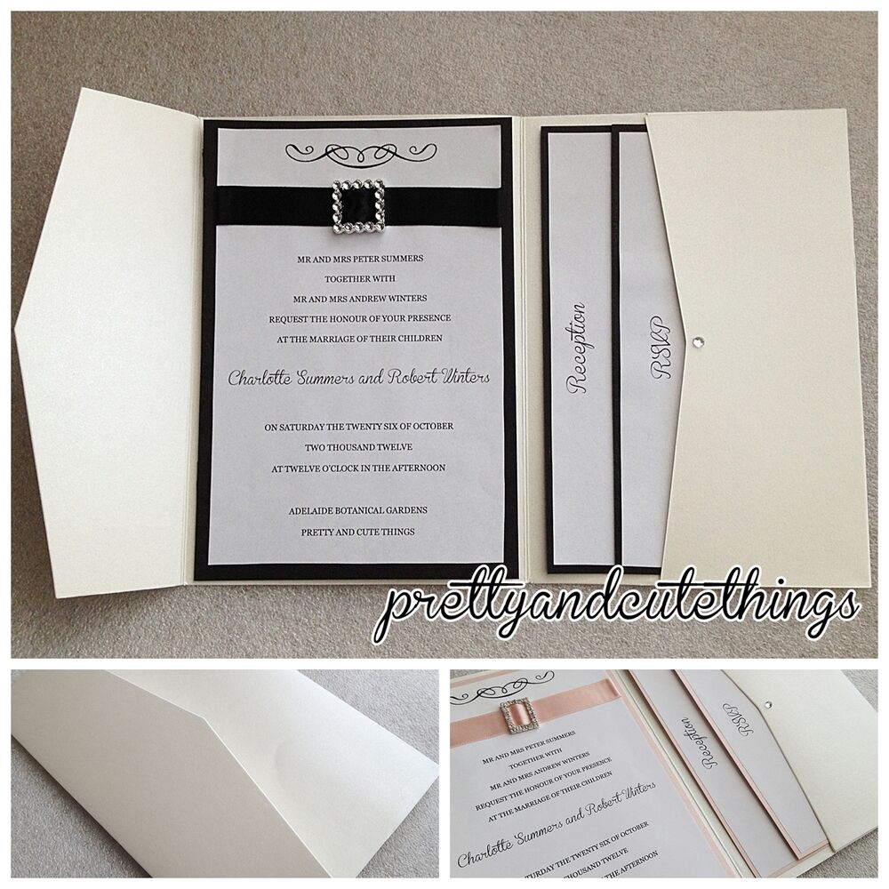 pocket wedding invitations ivory shimmer wedding invitations diy pocket fold 6699