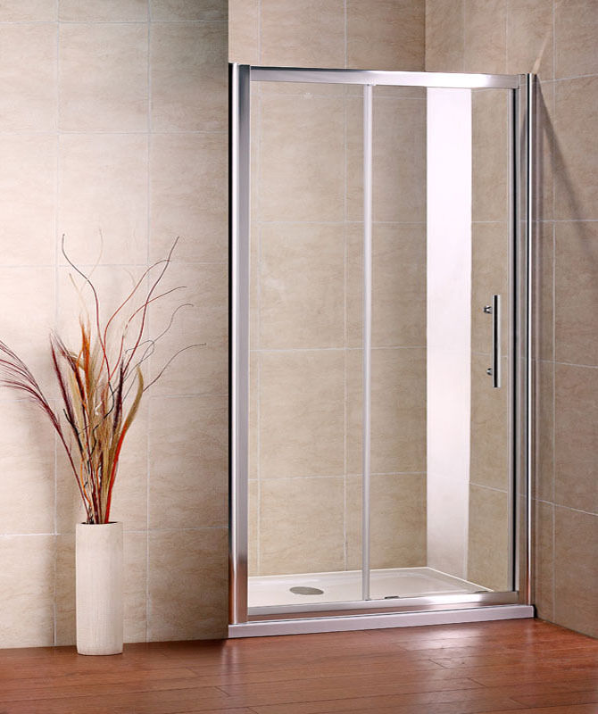 1600x700mm Sliding Walk In Shower Enclosure Glass Screen