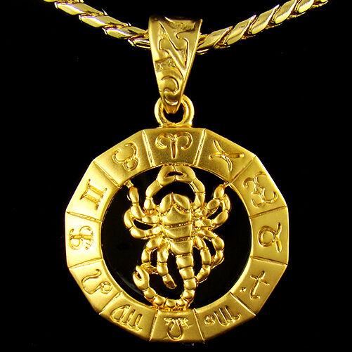 High Q 18k Gold Plated Mens Scorpion Hiphop Pendant