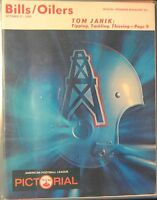 1968 Buffalo Bills vs Houston Oilers AFL Pictorial Football Program