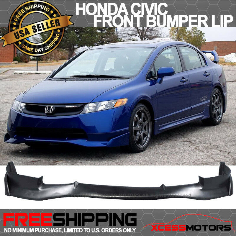 fits 06 08 honda civic 4dr sedan mugen si front bumper lip. Black Bedroom Furniture Sets. Home Design Ideas