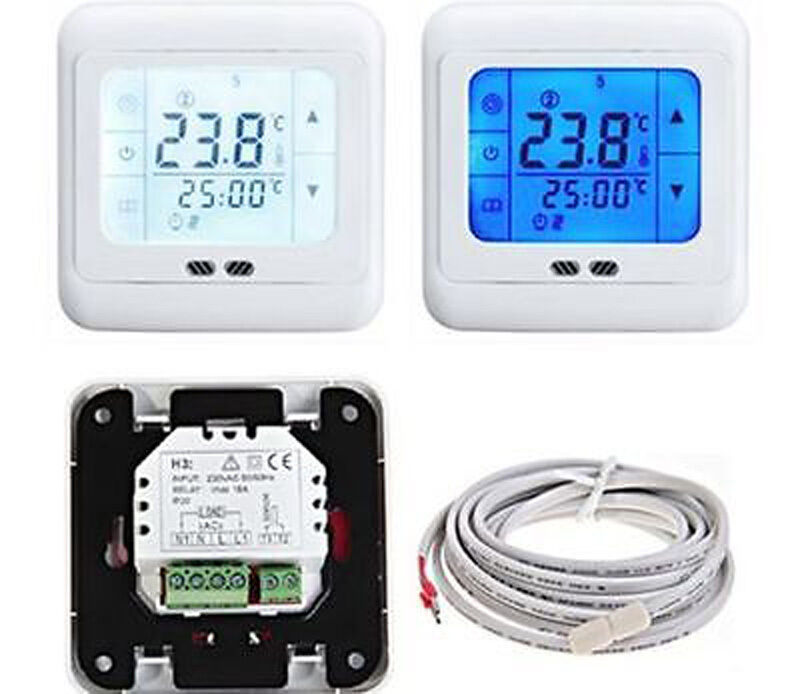 Touch Screen Programmable Heating Thermostat For Water