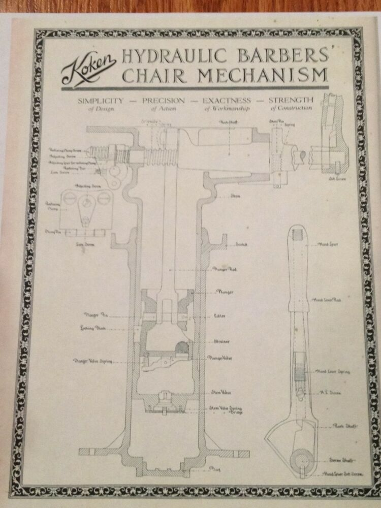 Pictures of Koken Barber Chair Repair Manual - Chair Repair: Koken Barber Chair Repair Manual