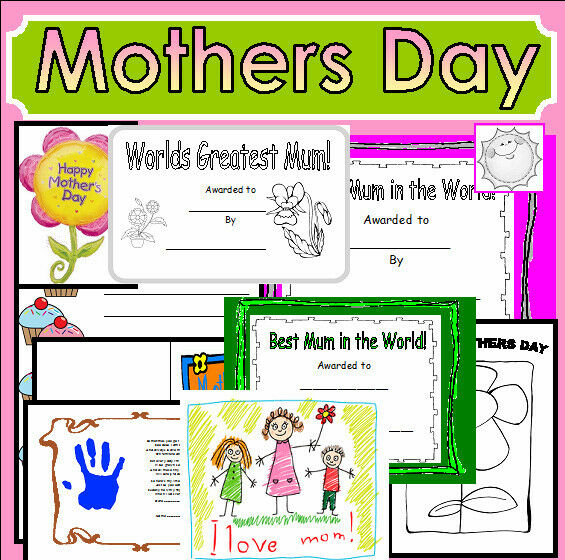 MOTHERS DAY Celebrations teaching resources cd EYFS KS1 ...