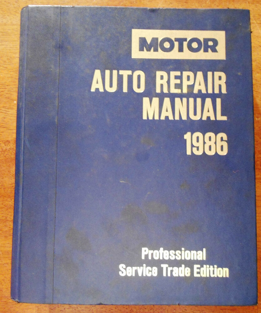 1986 motors domestic cars service auto repair manual