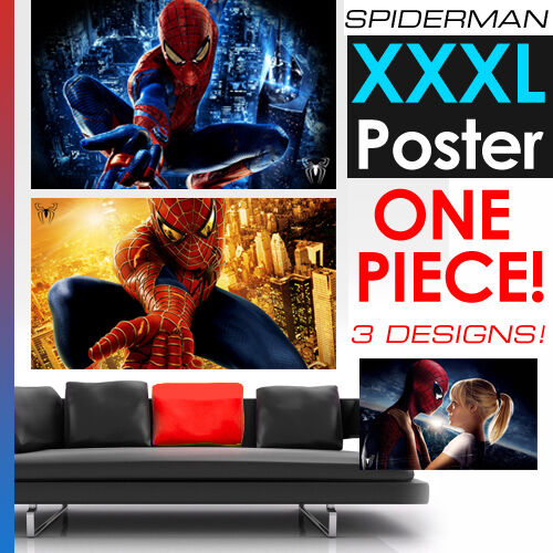 spiderman giant wall art movie poster xxl ebay. Black Bedroom Furniture Sets. Home Design Ideas