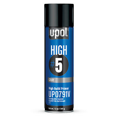 450 mL U-Pol High Build #5 Aerosol Primer Filler Gray UP0791V - Auto Body Repair