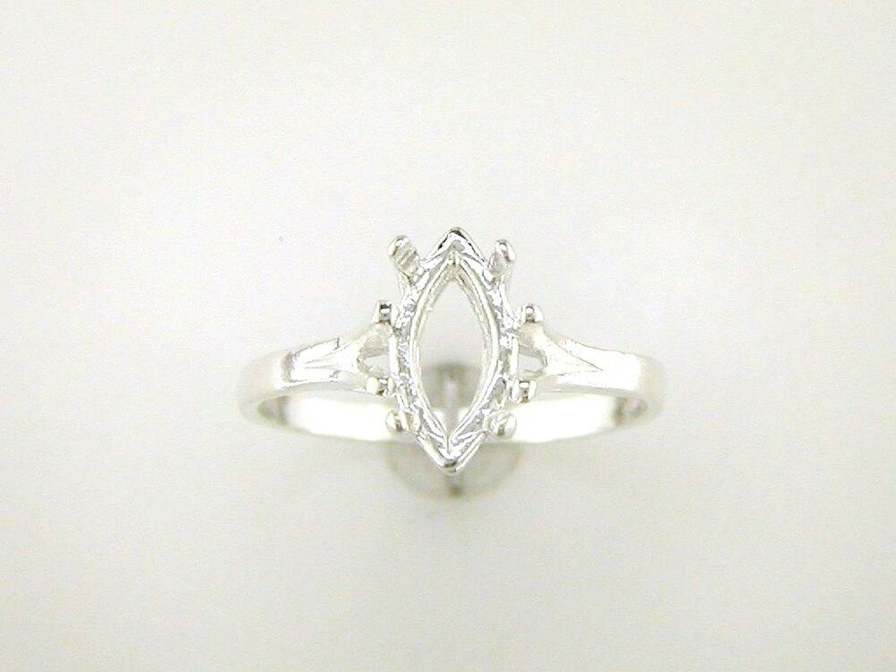 marquise split shank solitaire ring setting sterling
