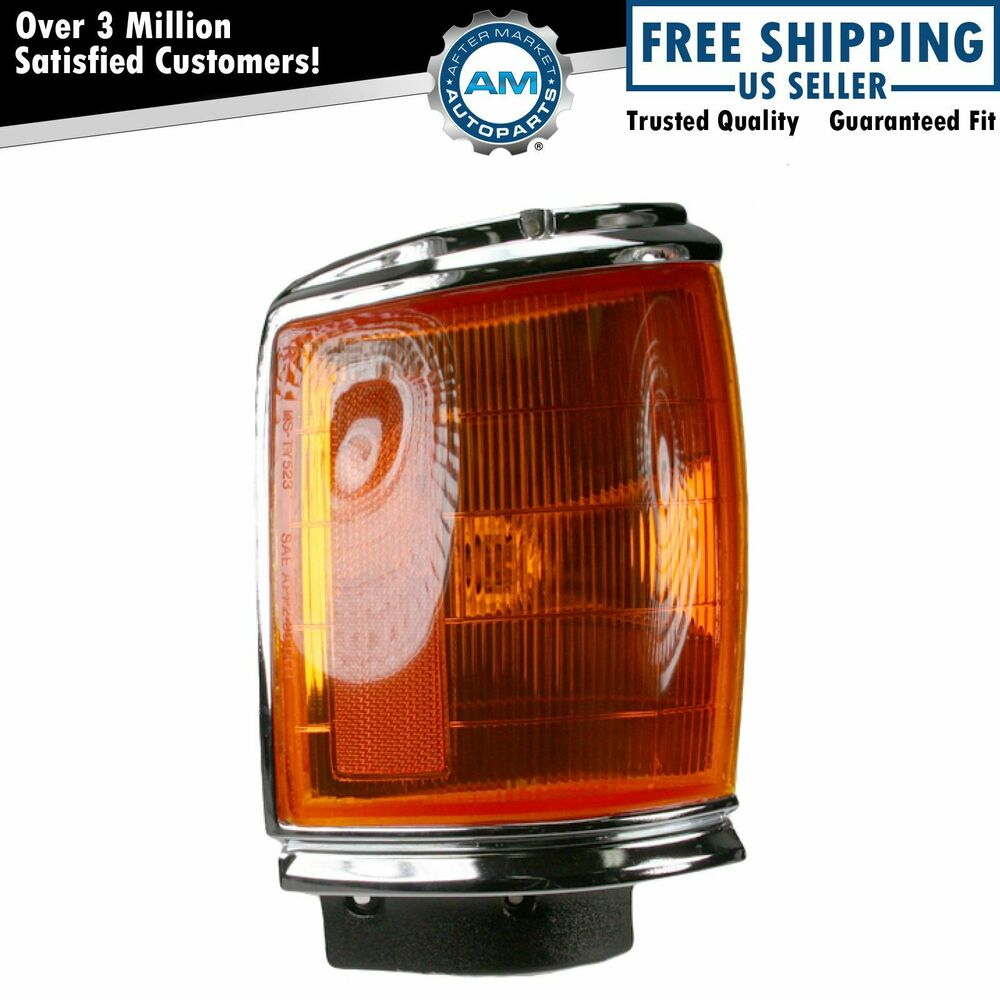 Chrome Parking Light Right For 1987 1988 Toyota Pickup 2wd