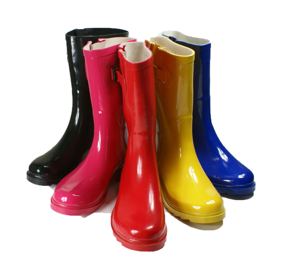 Rain Boots Women Size S Rubber 9 Snow Wellies Womens New Flat ...