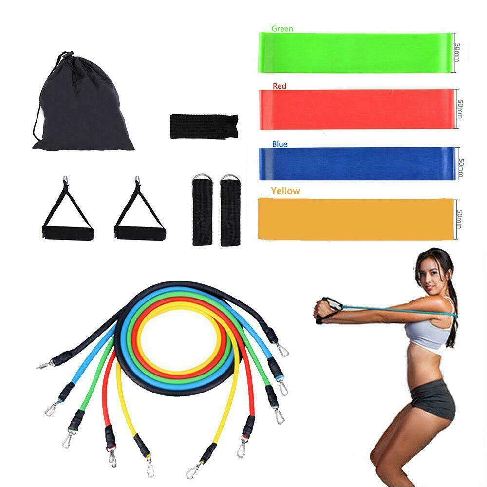 Resistance Bands Thigh Workout: 4PCS Leg Fitness Exercise Natural Latex Tube Resistance