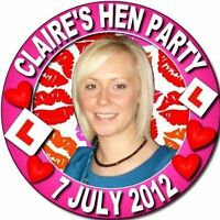 DESIGN YOUR OWN HEN  NIGHT &  STAG PARTY BUTTON BADGES ~LARGE SIZE