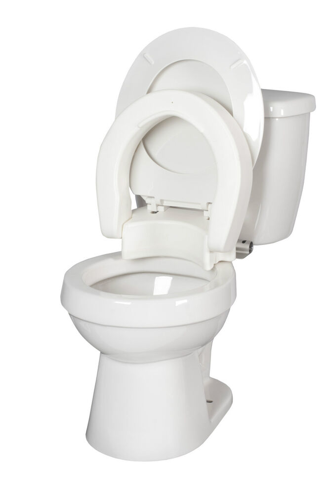 Hinged Toilet Seat Riser By Medbasix Ebay