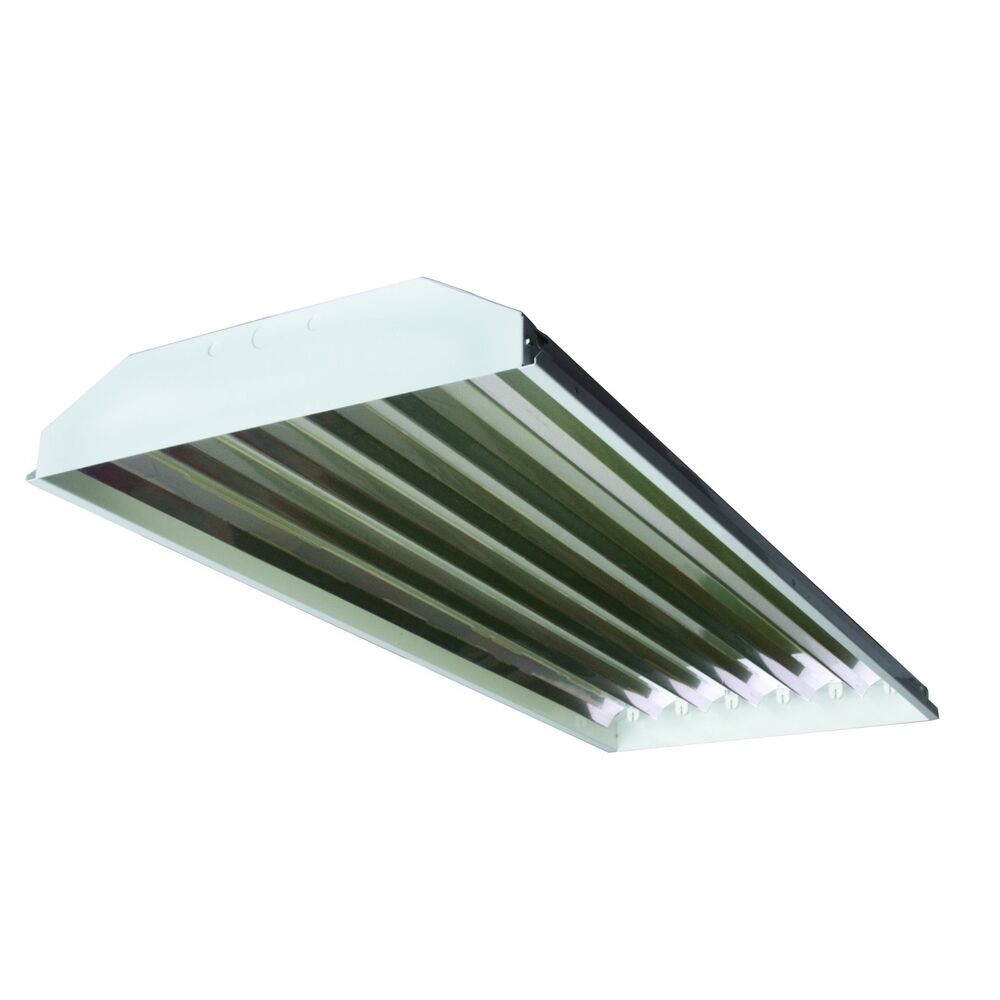 Led Or Fluorescent Shop Light: (12) T5 6-lamp Fluorescent High Bay Light Fixtures