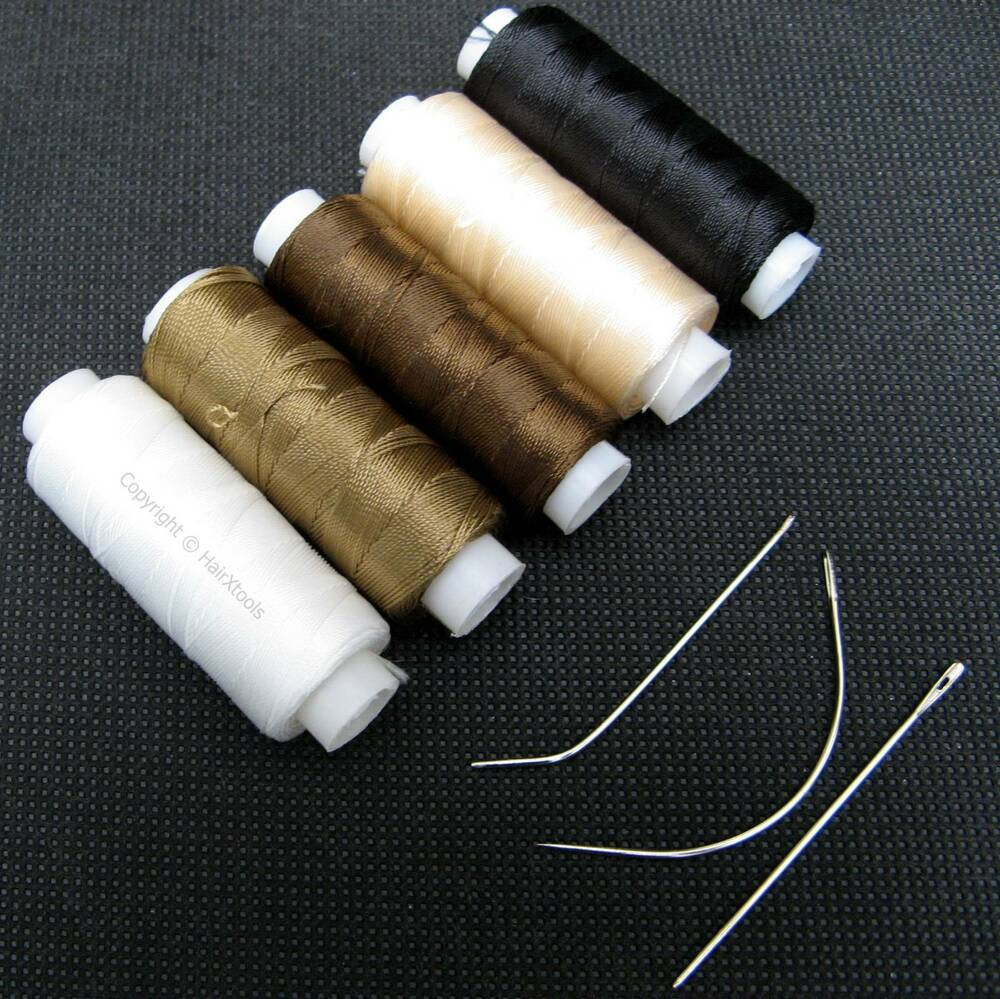 Nylon Hair Track Weft Weave Sew Thread Needle Jic For Clip In
