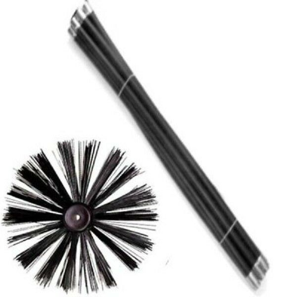 New Chimney Flue Cleaning Brush Sweep Sweeping Set Kit