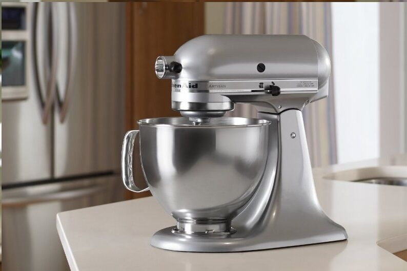 Kitchenaid Stand Mixer Tilt 5 Quart Rk150cs Cocoa Silver