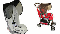 SUNSHINE KIDS SEAT SHADE CAR SEAT PUSHCHAIR BUGGY SUNSHADE SUN CANOPY VISOR NEW