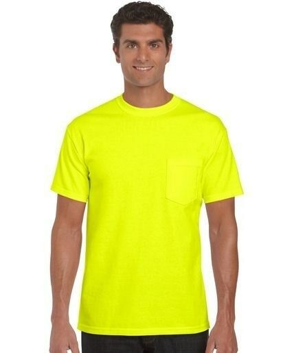 Jerzees 29MP Safety Yellow Green Neon Lime Hi Viz Vis Tee ...