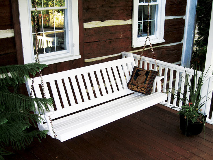 Outdoor 6 Foot Traditional English Porch Swing 8 Paint