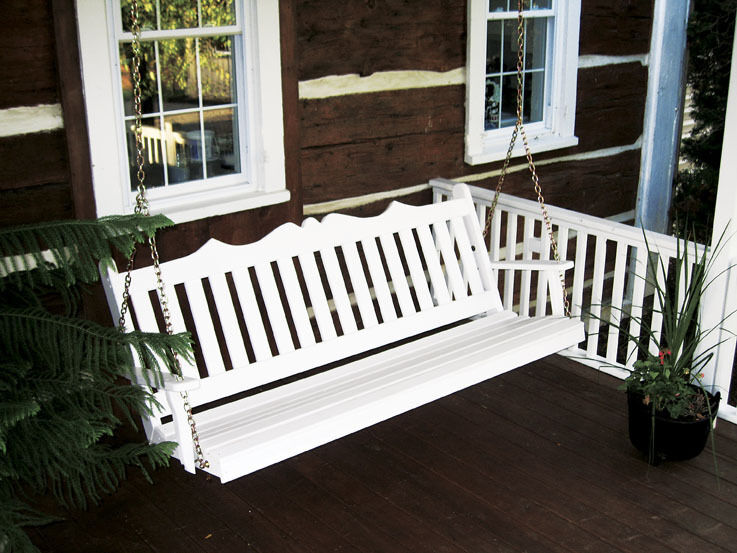 Outdoor 4 Foot Royal English Garden Porch Swing 8 Paint