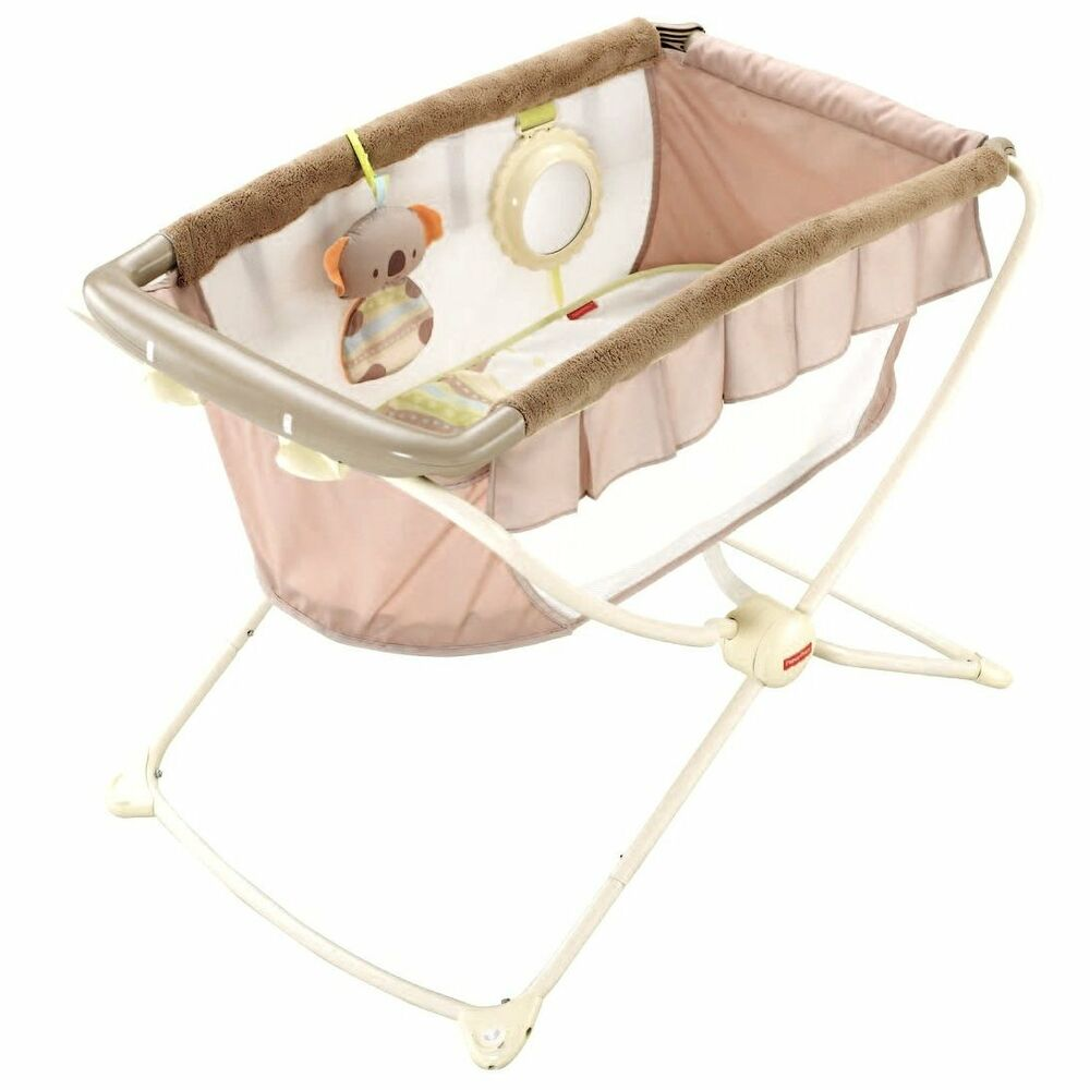 Fisher price deluxe rock n and play koala portable travel for Portable bassinet