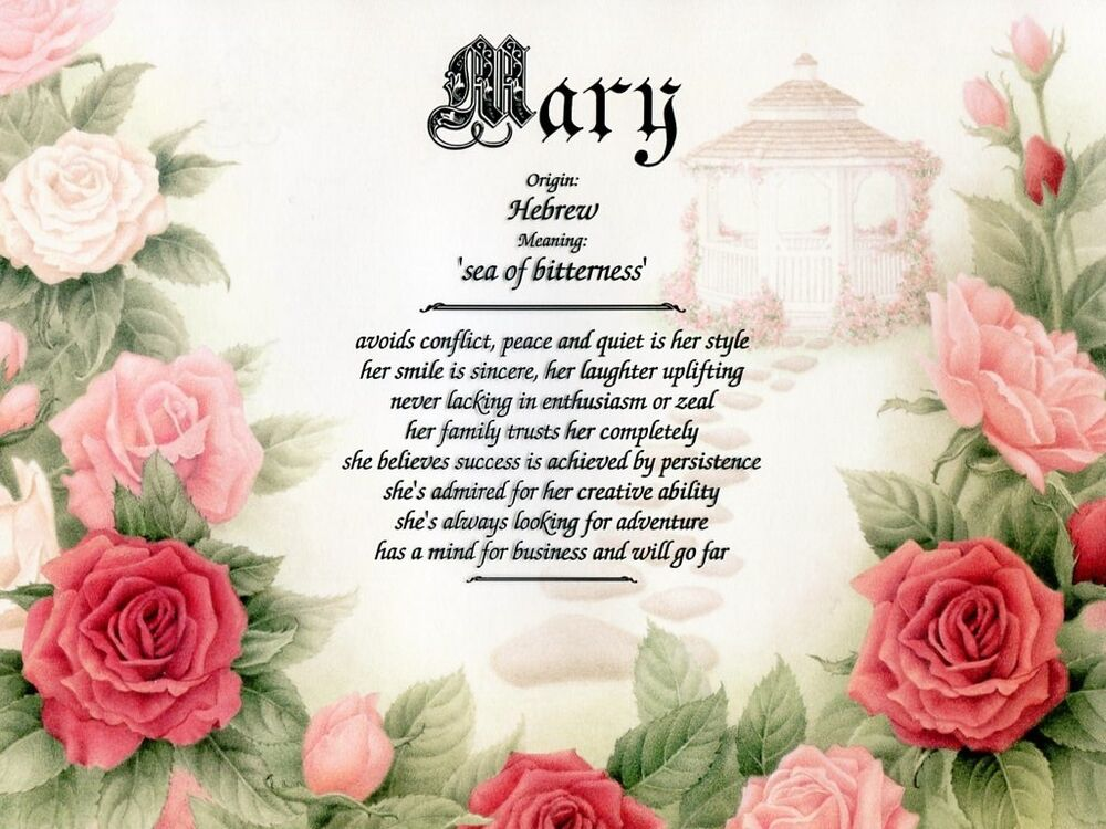 """""""Secret Garden"""" Name Meaning Prints Personalized (Flowers ..."""