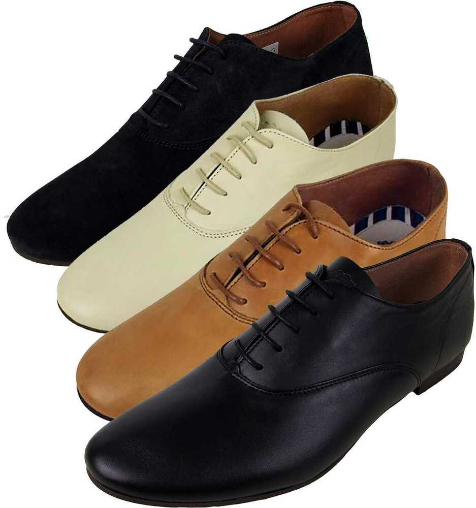 Mens Leather Base London Sax Leather Formal Derby Shoe