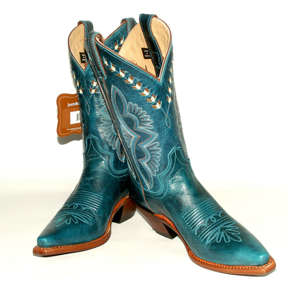 Turquoise Damiana Fashion Western Boots W J Flex Comfort