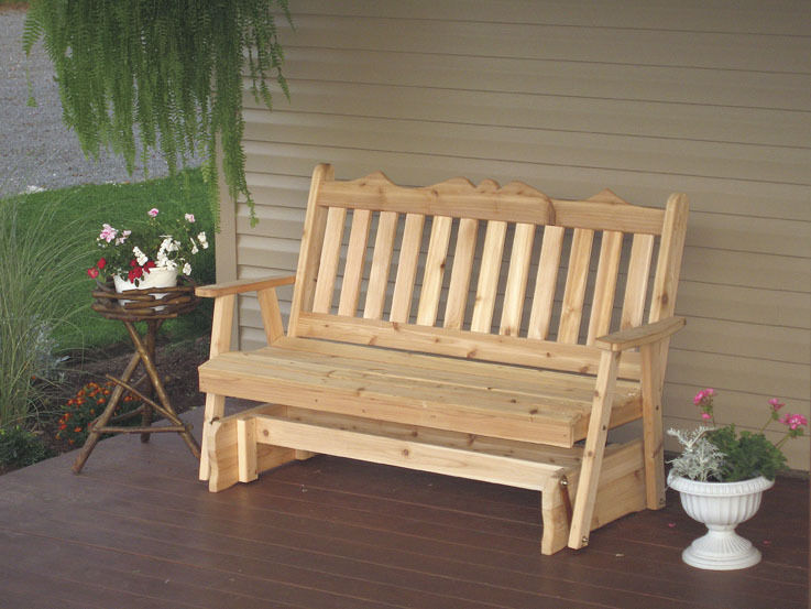 Outdoor 4 Foot Royal English Porch Glider *Unfinished Pine