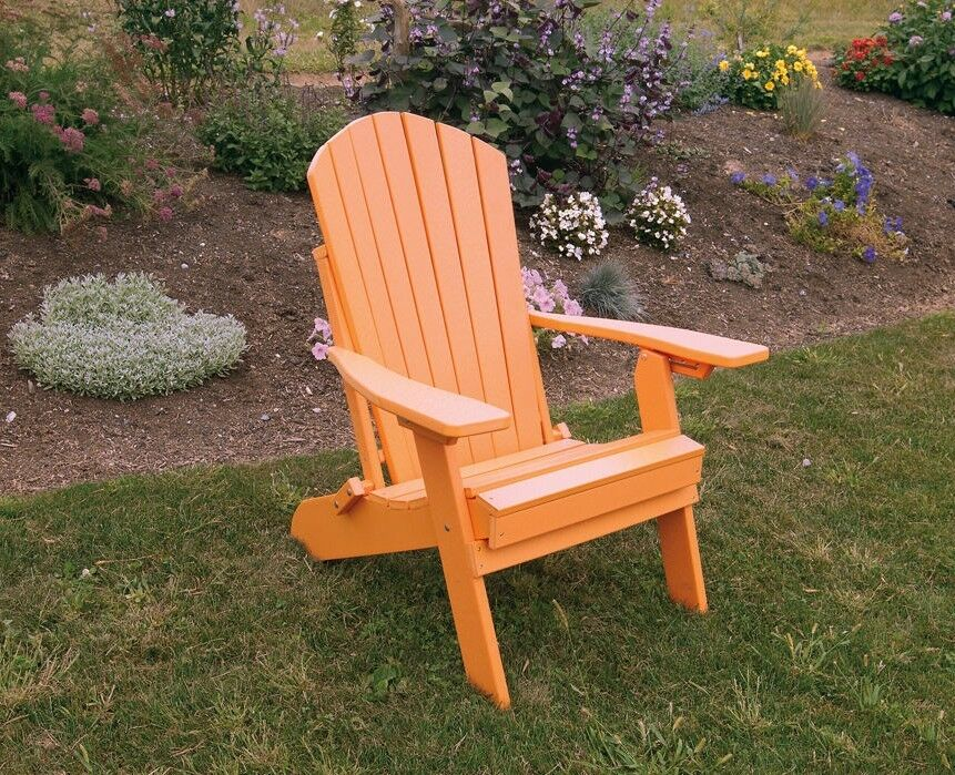 Poly Lumber Wood Folding And Reclining Adirondack Chair