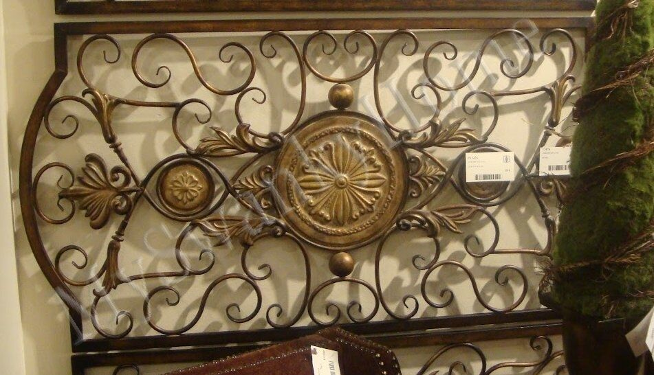 "Extra Large 42"" IRON SCROLL Wall Plaque Grille Overdoor"