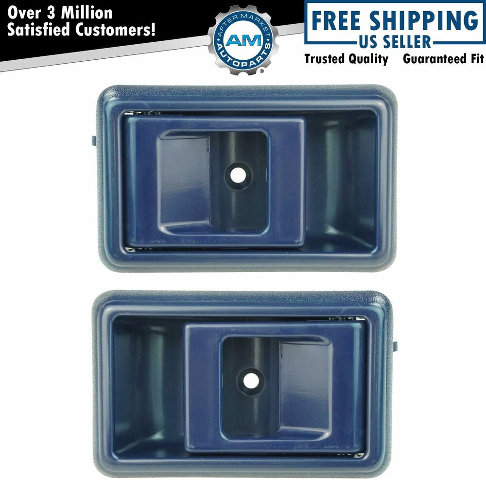 Blue Inner Interior Inside Door Handle Pair Set For Toyota Corolla Pickup Truck Ebay