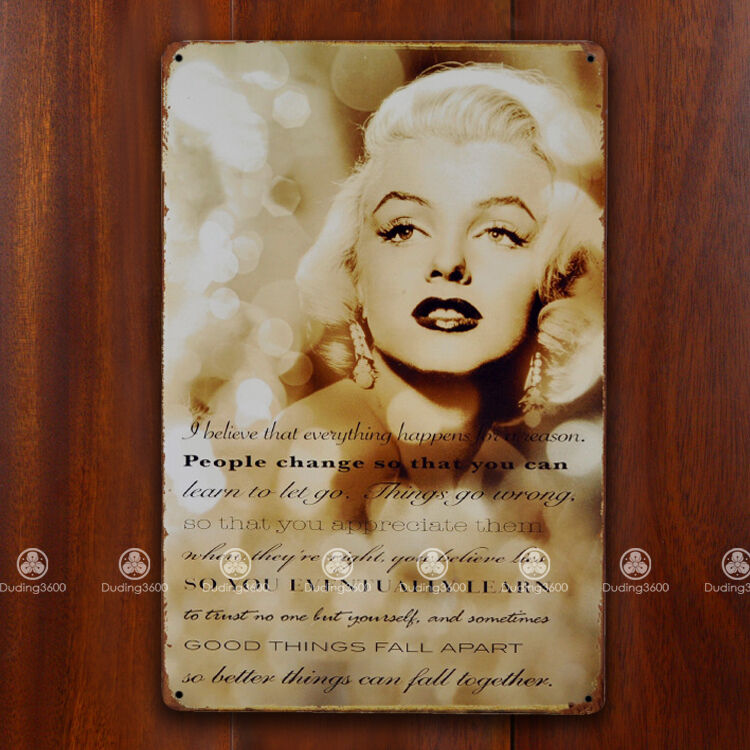 Tin Sign Wall Decor Retro Metal Art Poster Marilyn Monroe