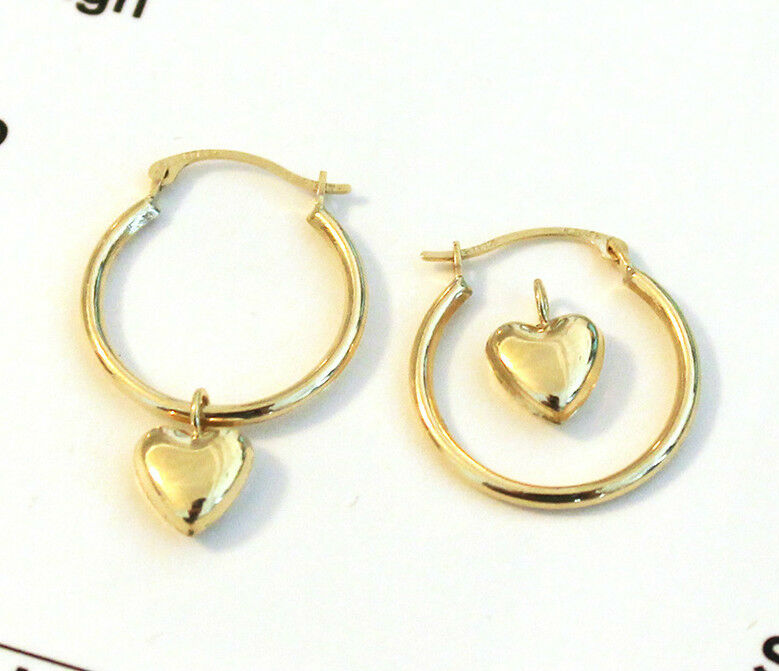 heart earrings gold - photo #37