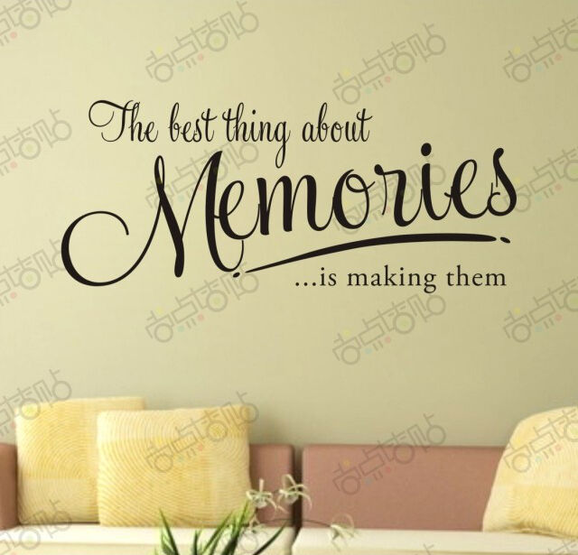 Memories best thing stickers wall Quote Removable Art Vinyl Decor ...