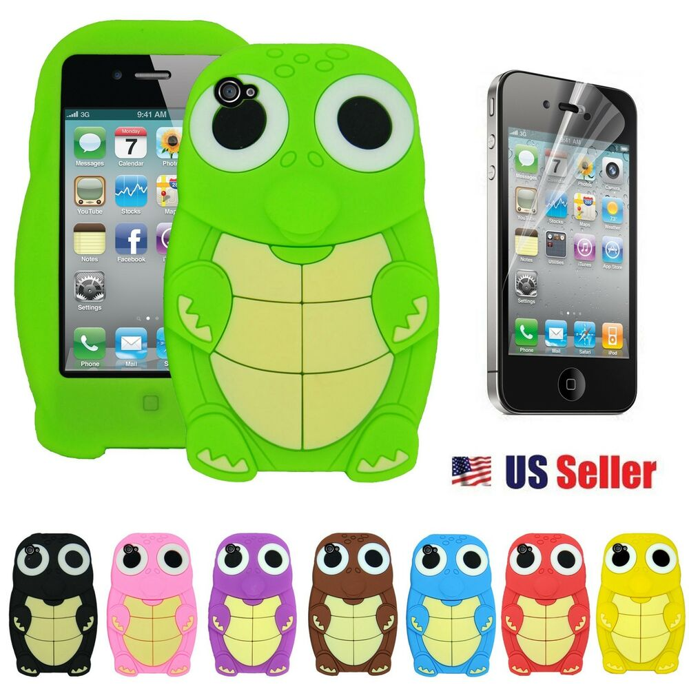 iphone 4s accessories cool turtle silicone back for apple iphone 4 4s 9987
