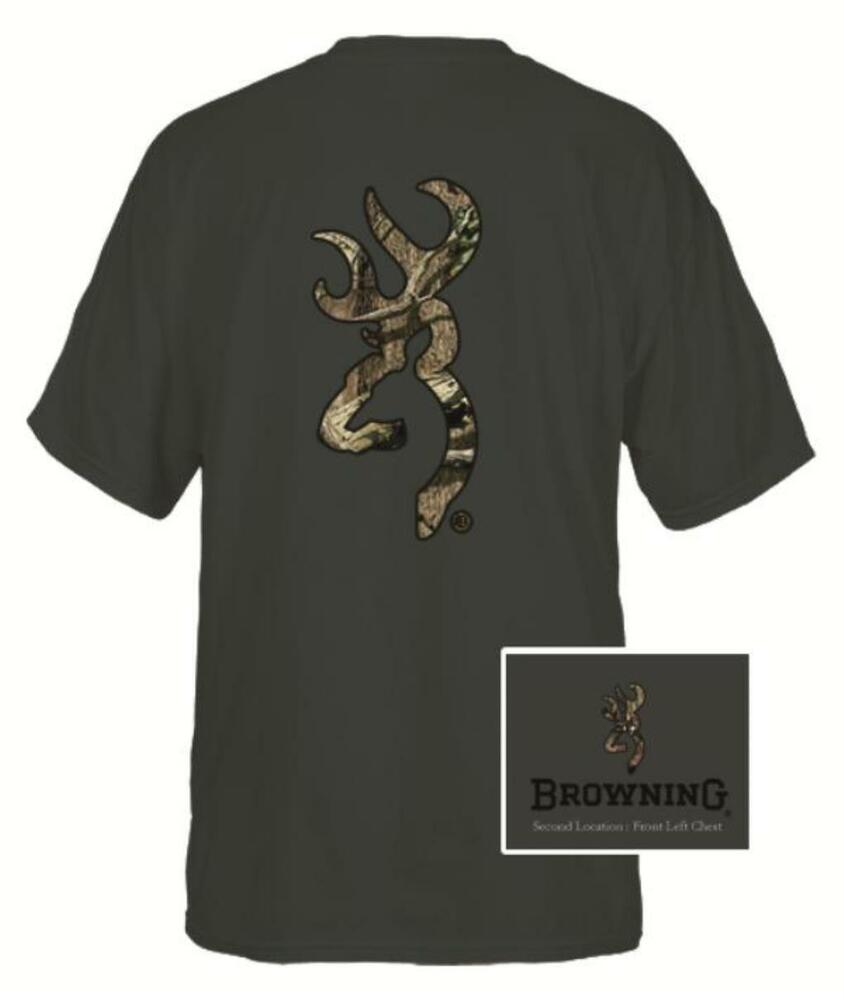 browning mens custom camo buckmark black tee ebay. Black Bedroom Furniture Sets. Home Design Ideas