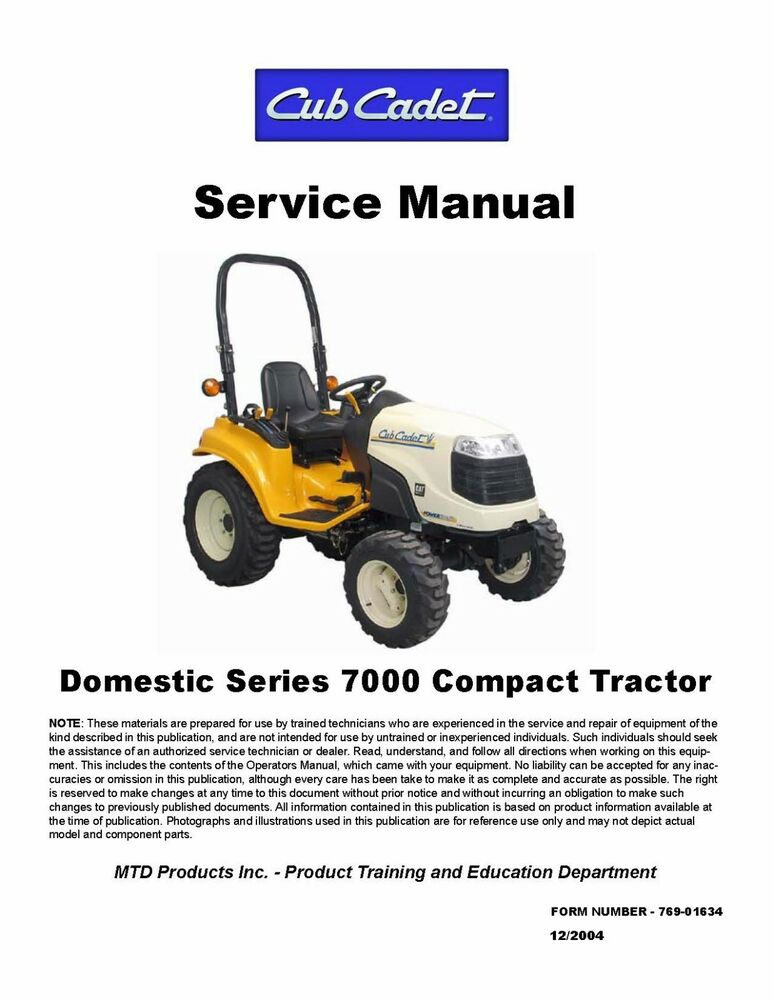 Cub Cadet Series 1000 Service Manual