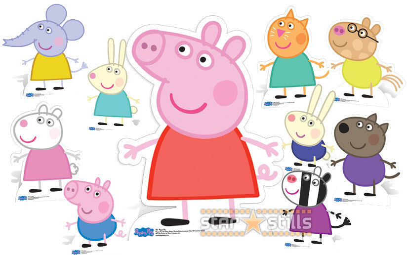 peppa pig character lifesize cardboard cutout standee table decorations for birthday party ideas table decor for birthday party