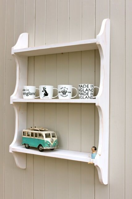 3 Tier Level Wall Shelf/ Bookcase Shabby Chic Distressed