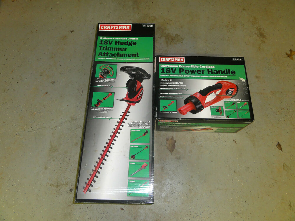 Craftsman 18 Volt Power Handle With Hedge Trimmer