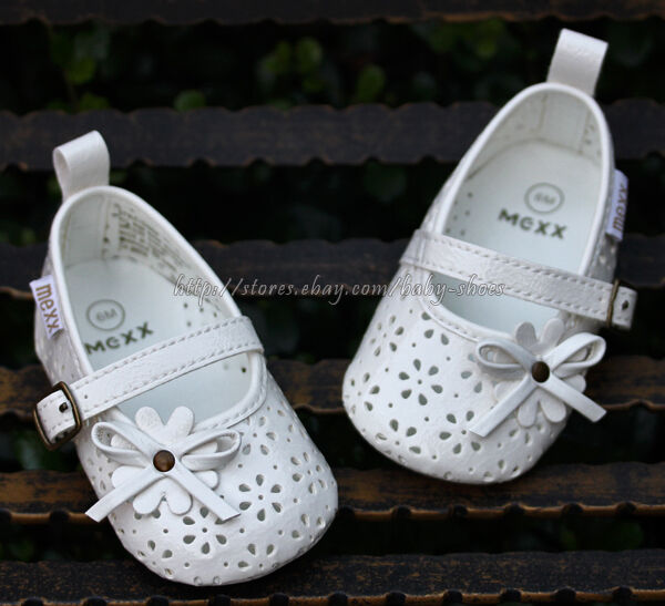 Baby Girl White Mary Jane Dress Crib Shoes Sandals Size 3