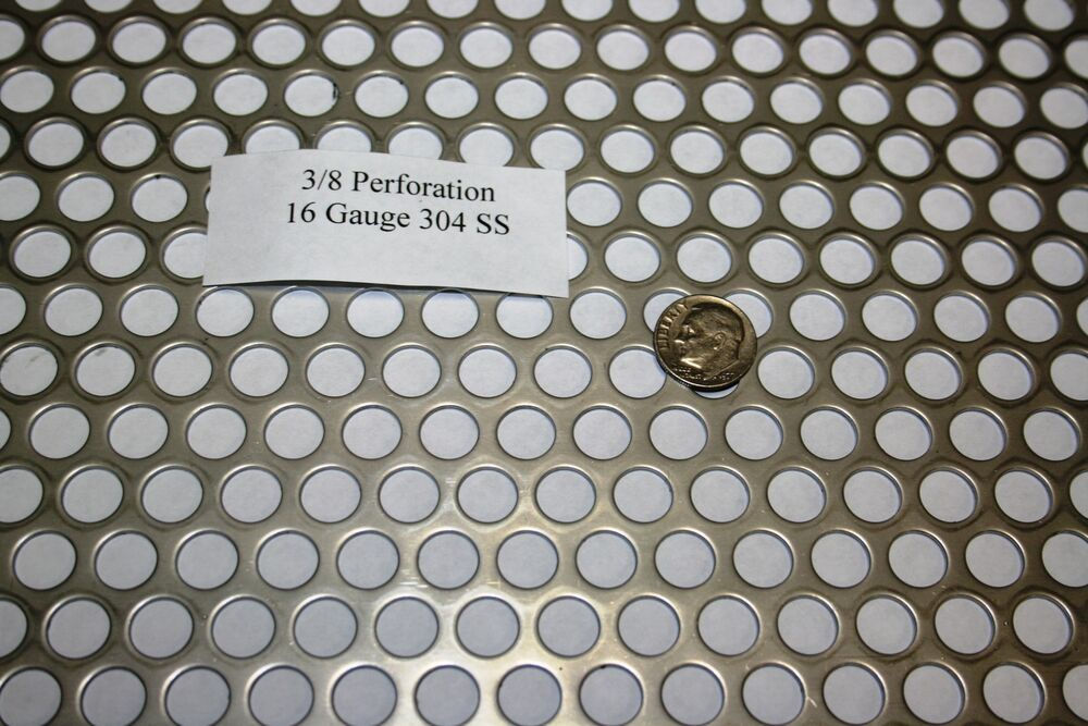 3 8 Inch Hole 16 Gauge Perforated 304 Stainless Steel