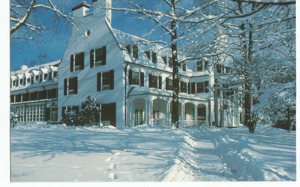 Menu For Olive Garden: State College PA Nittany Lion Inn Snow Vintage Postcard