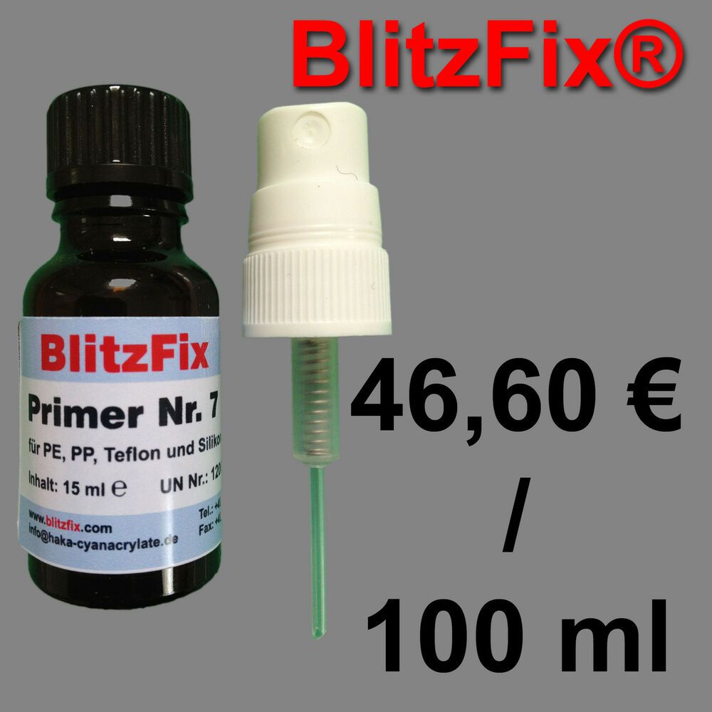 primer nr 7 15ml f r industriekleber primer blitzfix aktivator pp pe verkleben ebay. Black Bedroom Furniture Sets. Home Design Ideas