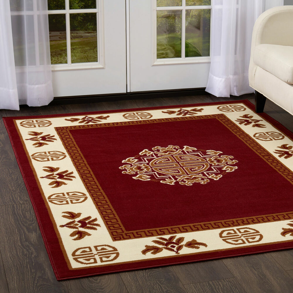 Oriental Burgundy Area Rug 2 X 3 Mat Persian 14 Actual 1