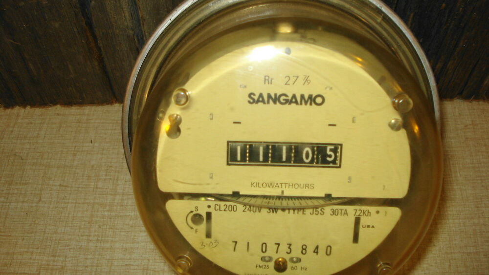 Types Of Electric Meters : Sangamo watthour watt hour electrical electric power meter